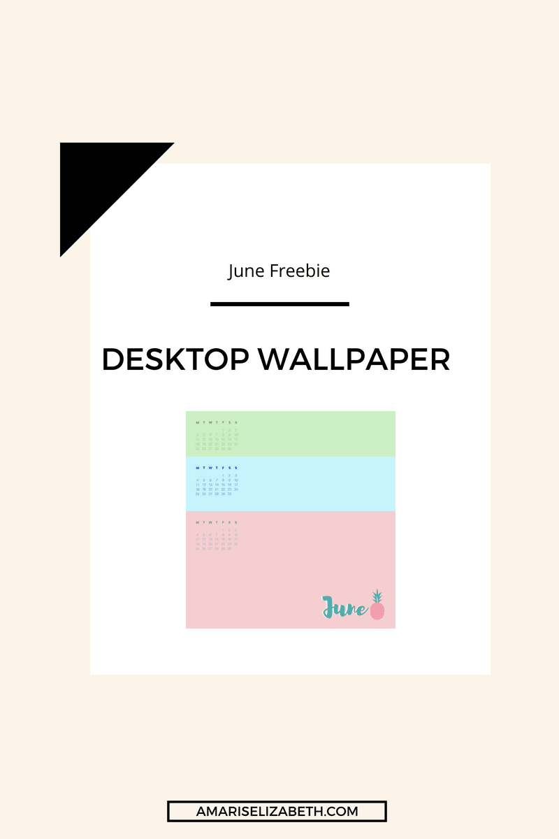 Freebie: June Desktop Wallpaper