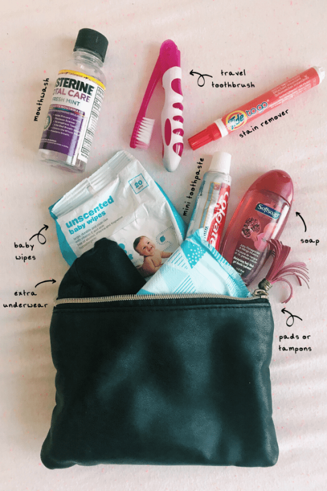 The personal items on the purse shopping list are good to have when accidents happen. Don't forget to replace the items you use.