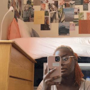 september that girl mirror selfie