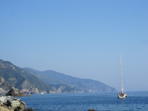 Boating between Vernazza and Monterosso