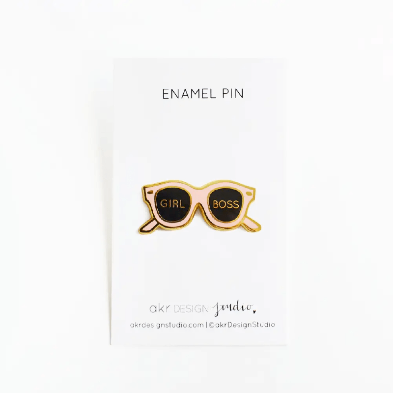 Girl Boss Shades Enamel Pin Alt