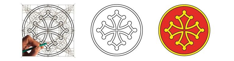 Dessiner la Croix Occitane