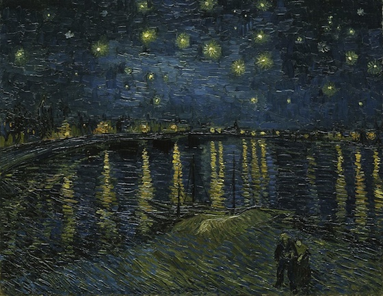 Starry Night by Vincent Van Gogh, as an example of a poor artist