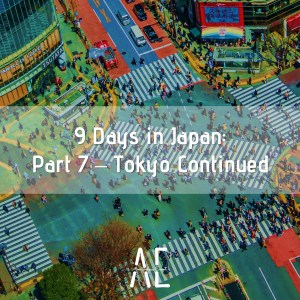 9 Days in Japan: Part 7 – Tokyo Continued