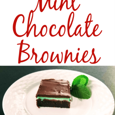Easy mint chocolate brownies