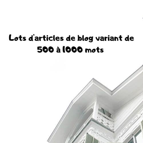 Lots d'articles de blog variant de 500 à 1000 mots