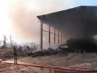 Incendio fienile Amaseno