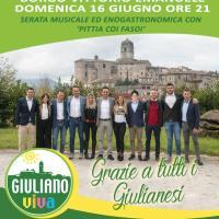Festa in piazza con Giuliano Viva e il sindaco Lampazzi