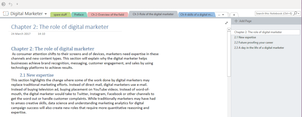 digital marketer book Eileen Brown BCS onenote