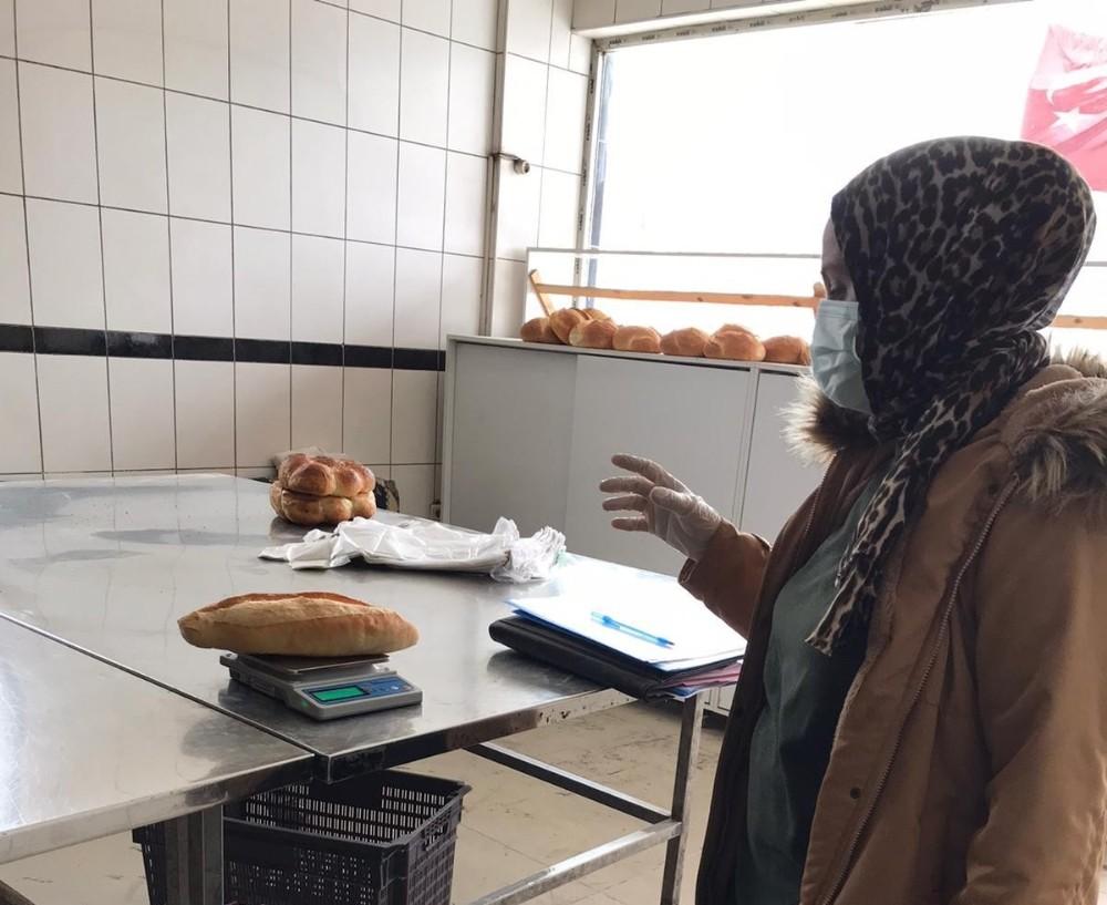 Amasya'da ekmekler ağırlık denetiminden geçti