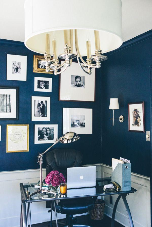 Colore blu per le pareti dello studio con il feng shui