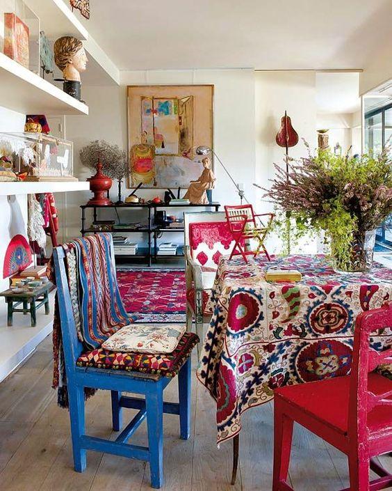 Una tavola in stile boho chic for Arredamento boho chic