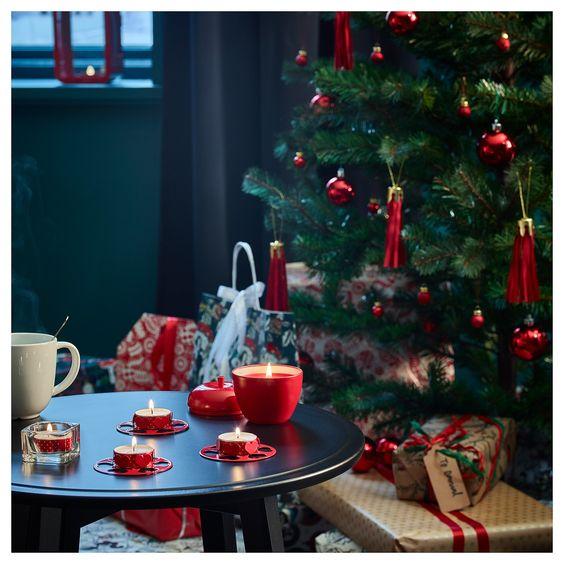 Candele natalizie rosse