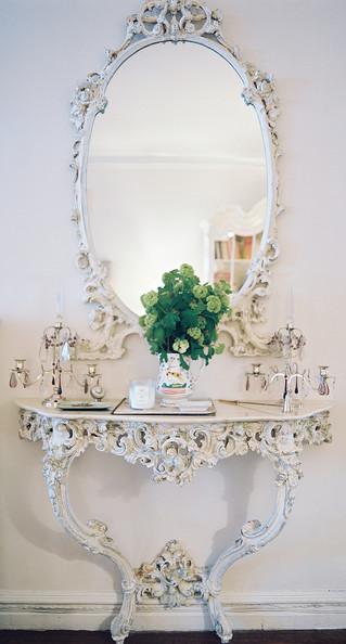 Specchio con console