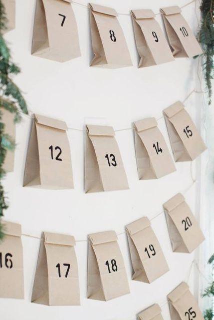 Un semplicissimo calendario dell'Avvento hygge