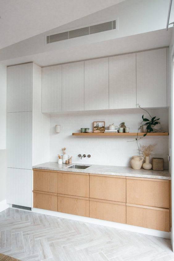 Cucina moderna con legno chiaro