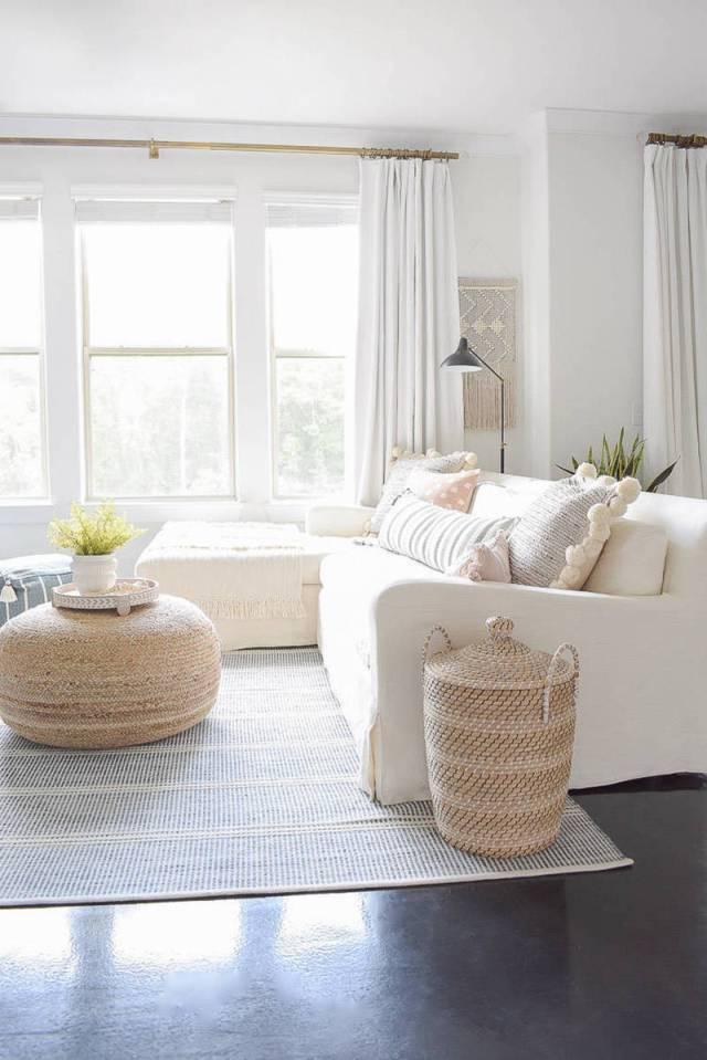 Materiali naturali per il soggiorno