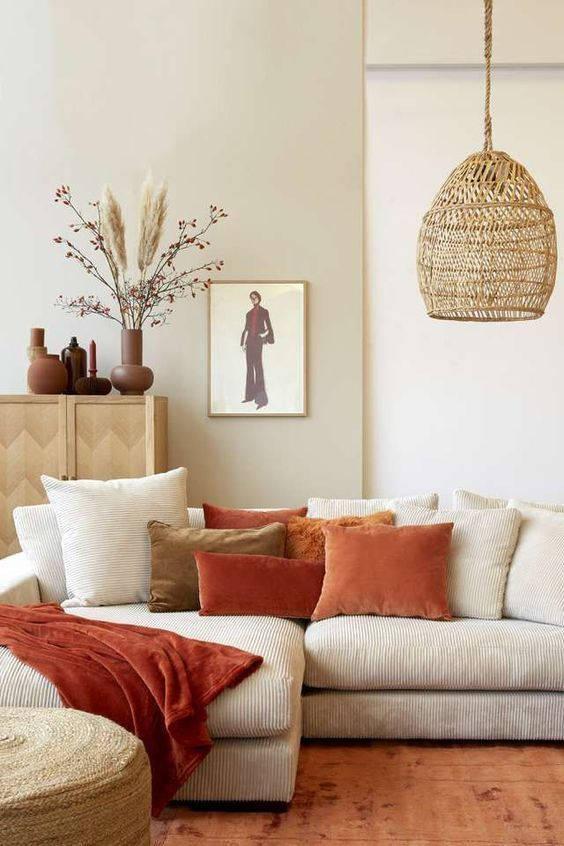 Tessuti morbidi e naturali per il soggiorno