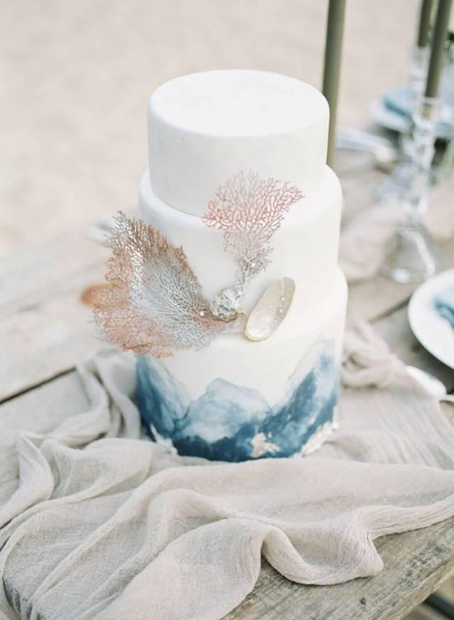 Una wedding cake ispirata al mare