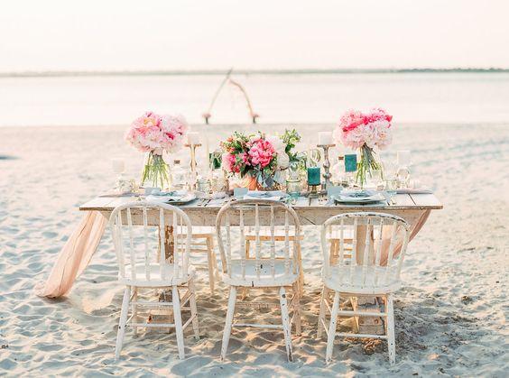 Matrimonio shabby chic in spiaggia