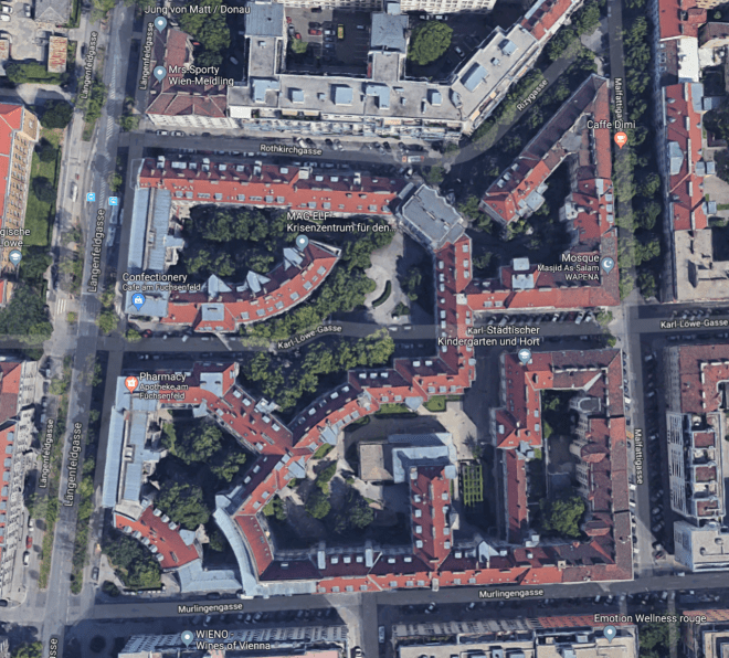 Aerial View of Social Housing in Vienna