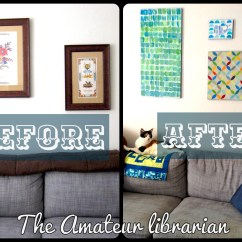 Diy Canvas Art For Living Room Modern Furniture Pics Project Pinterest Wrap Up The Amateur Librarian