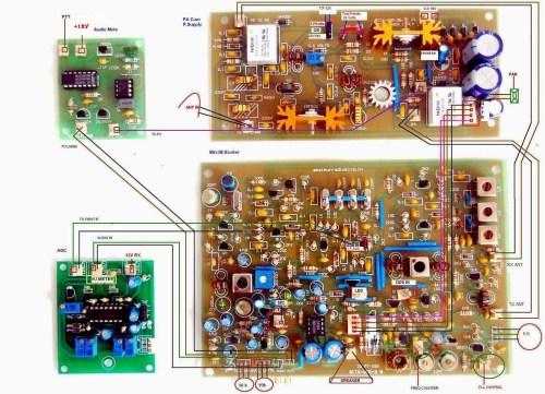 bitx3b agc,audio mute,pa,layout