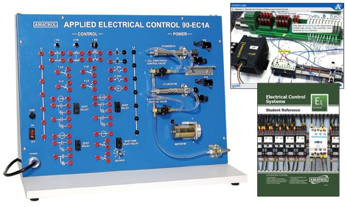 time delay relay circuit diagram wiring for starter hands-on control skills | ladder logic training amatrol