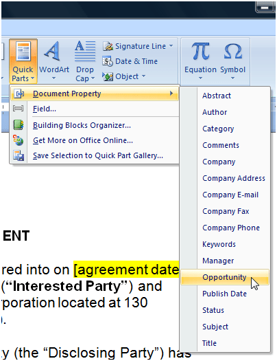Insert Today's Date In Word : insert, today's, Matter, Degree:, Insert, SharePoint, Metadata, Document, Using, Quick, Parts, Content, Types