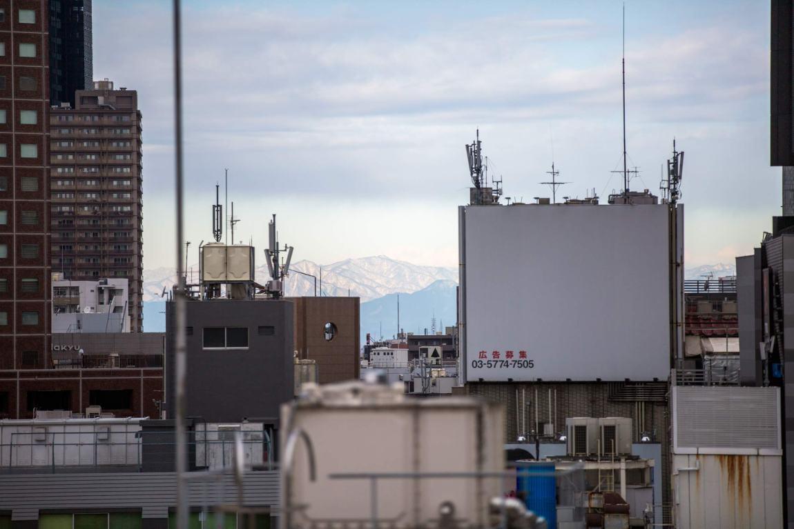 Tokyo - mountains view from Shinjuku