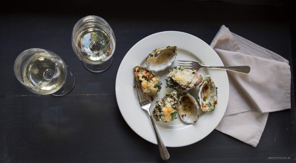 Oysters rockefeller | Phillip Island with Stoneleigh Wines