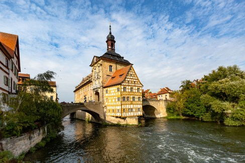 Bamberg Germany road trip old town hall river