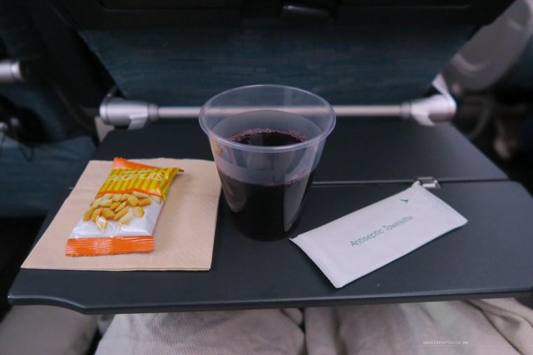 Cathay Pacific CX134 economy wine peanuts