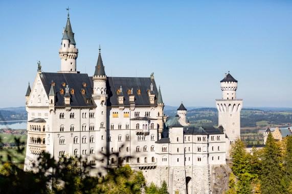 Germany road trip Neuschwanstein castle from the bridge
