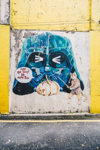 Ipoh street art vader cat