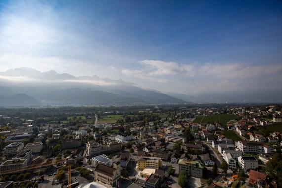 Liechtenstein road trip Vaduz view