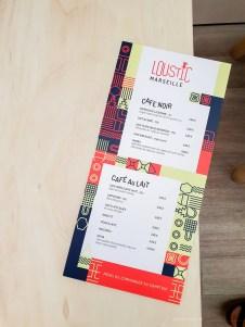 Loustic Marseille menu
