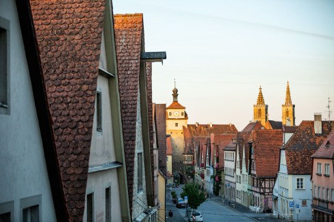 Rothenburg ob der Tauber germany sunrise