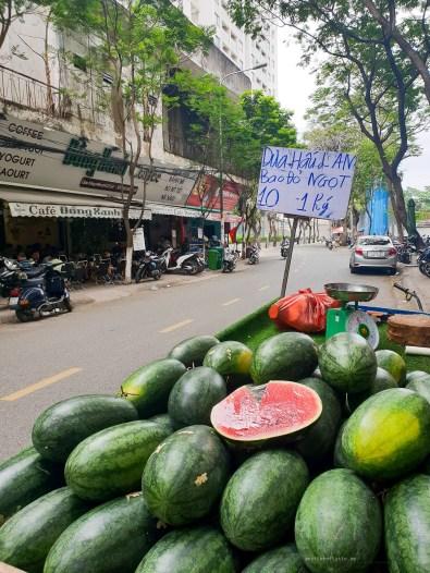Saigon district 4 street watermelons