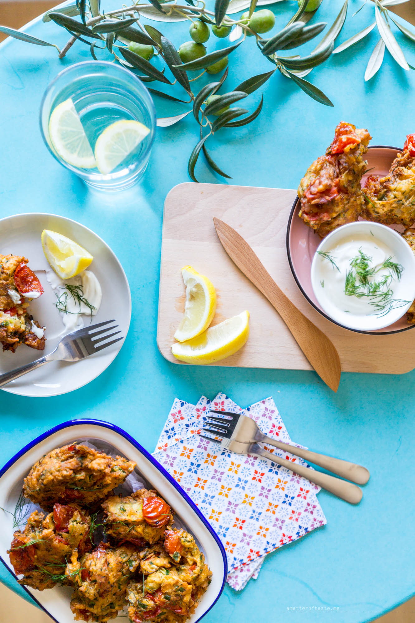Santorini tomato fritters recipe inspired by holidays