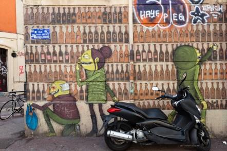 Street Art in Marseille bottle shop