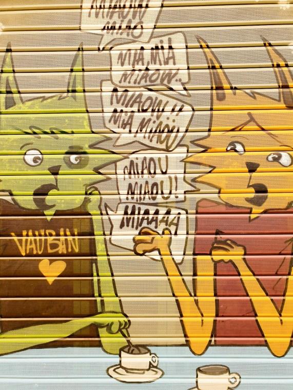Street Art in Marseille cats