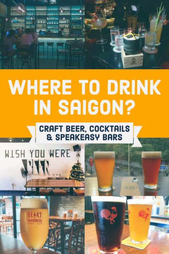 Where to drink in Saigon - craft beer, cocktails and speakeasy bars
