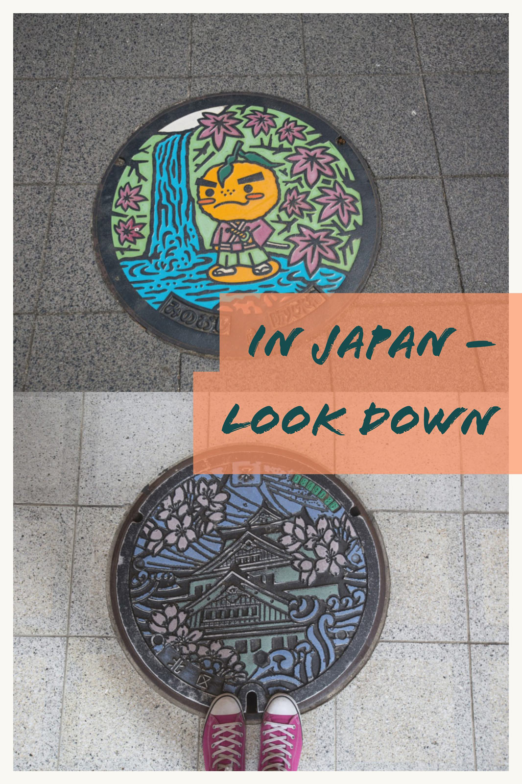 In Japan look down - creative manhole covers