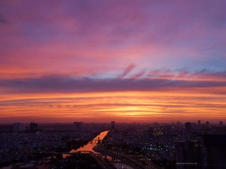 nye xmas saigon sunset