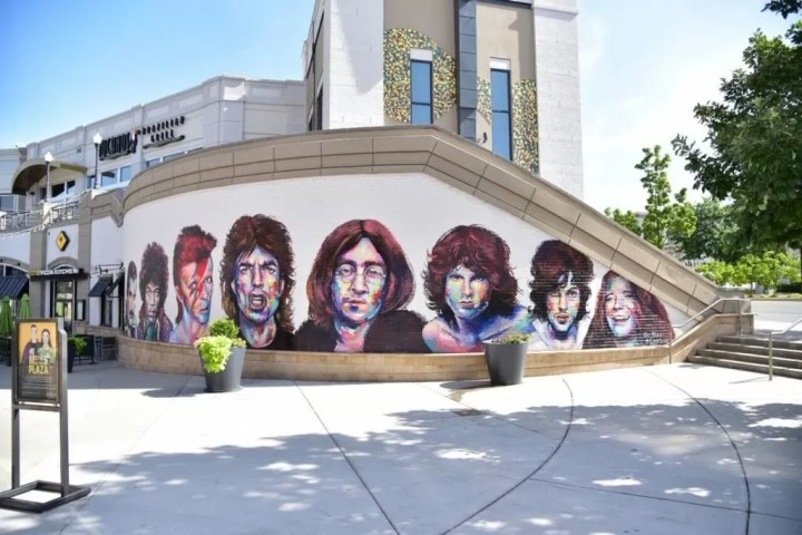 Legends of Rock Mural at The Gateway
