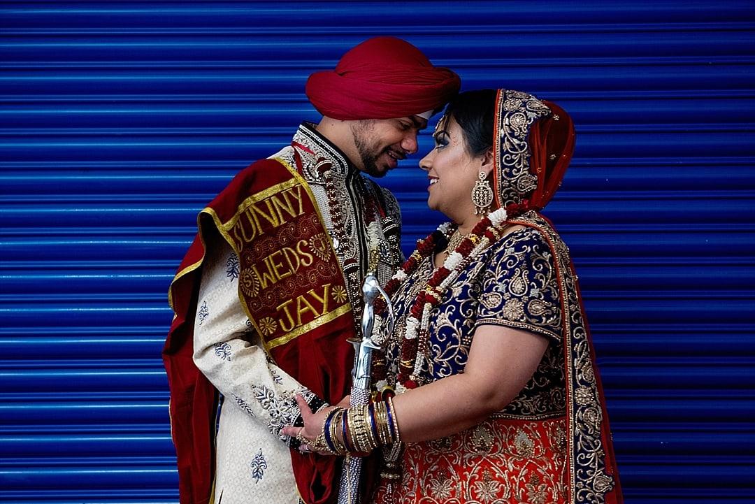 Sikh Wedding Photographer Couple Portrait