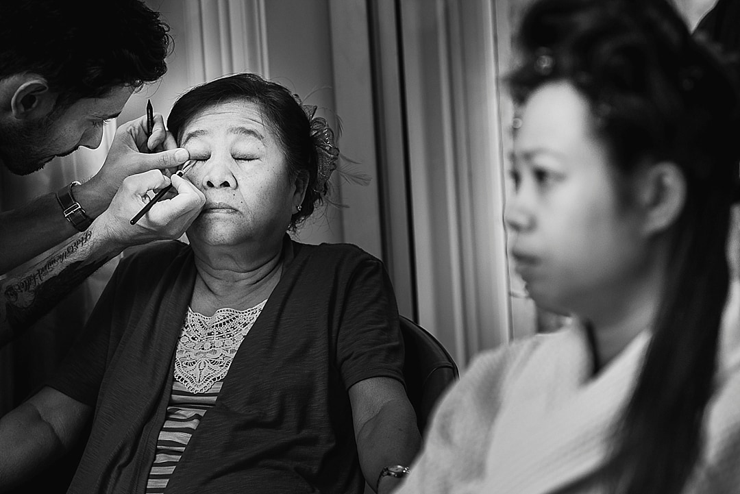 Corinthia Hotel Wedding Photographer Bride's mother getting ready