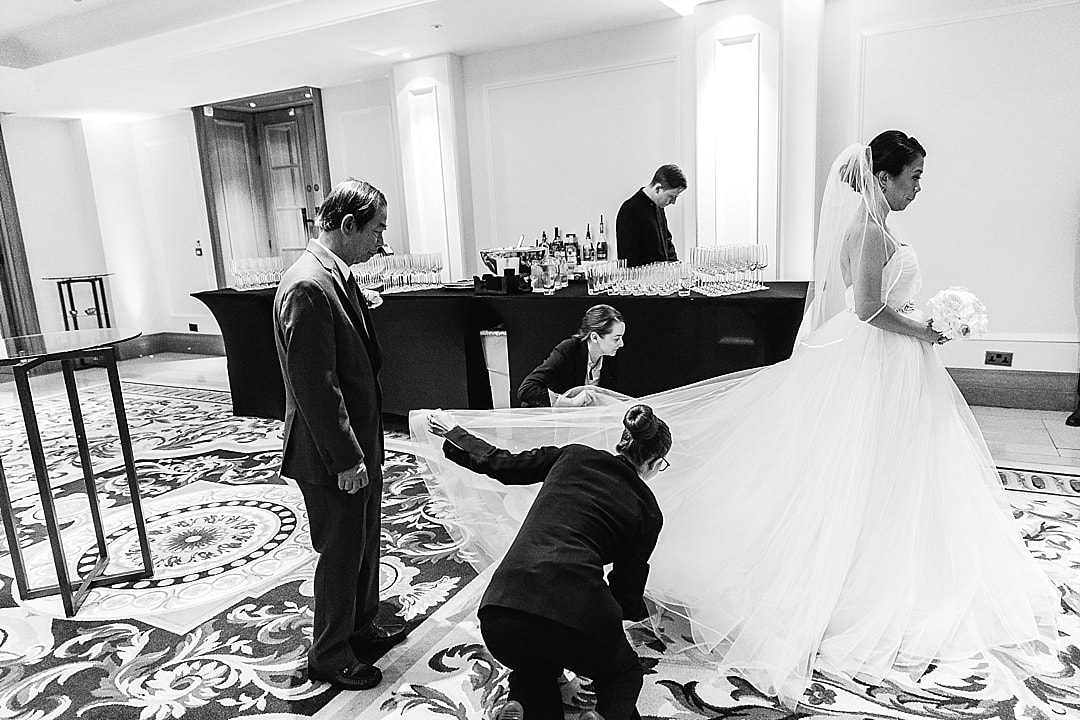Corinthia Hotel Wedding Photographer bride getting ready before the wedding ceremony