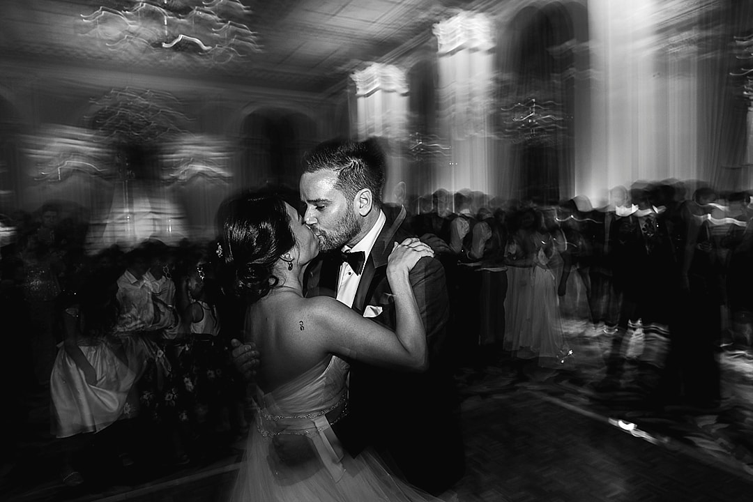 Corinthia Hotel Wedding Photographer first dance kiss